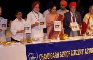 Senior Citizens felicitate Chandigarh Police