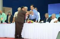 Honouring Dy. CM, Goa